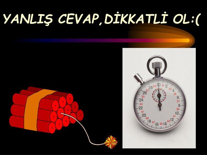 YANLIŞ CEVAP,DİKKATLİ OL:(