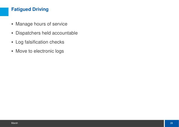 Fatigued Driving