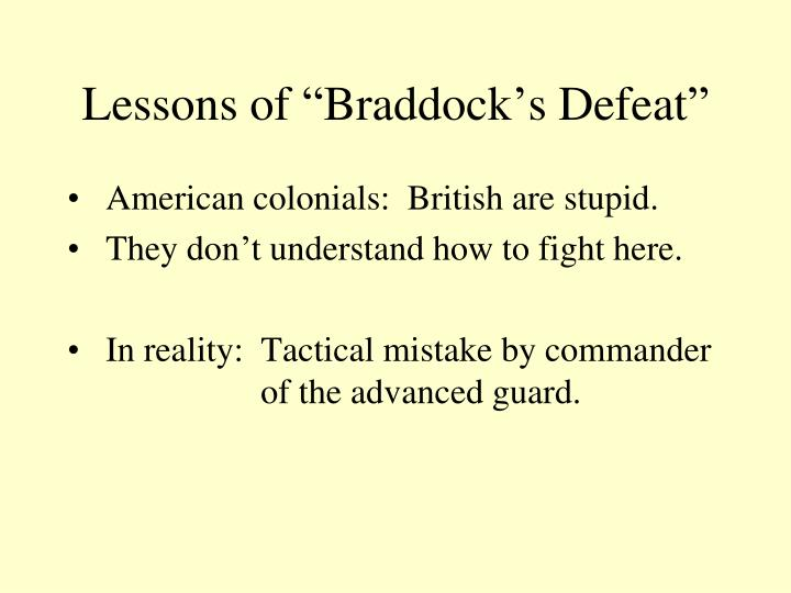 "Lessons of ""Braddock's Defeat"""