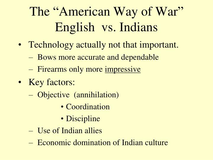 "The ""American Way of War"""