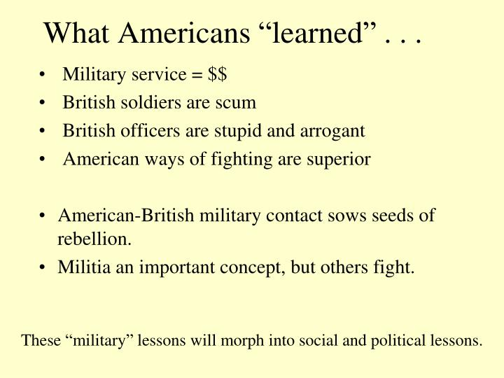 "What Americans ""learned"" . . ."
