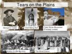 tears on the plains
