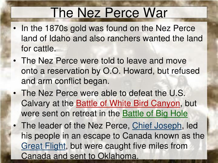 The Nez Perce War