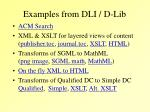 examples from dli d lib