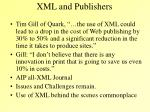 xml and publishers