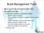 build management tools
