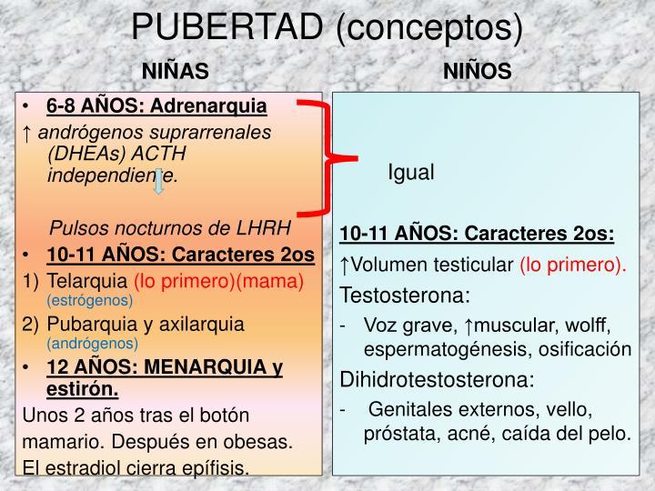 PUBERTAD (conceptos)