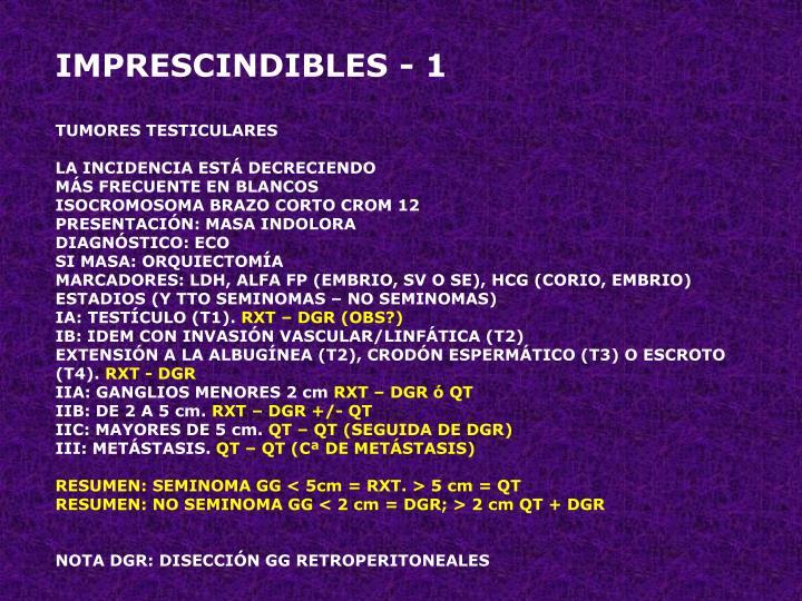 IMPRESCINDIBLES - 1