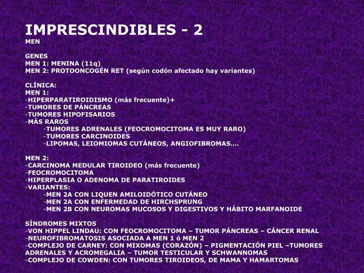 IMPRESCINDIBLES - 2