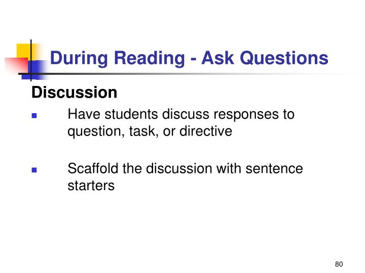 During Reading - Ask Questions