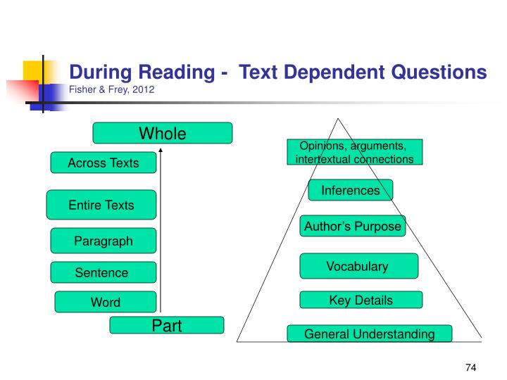 During Reading -  Text Dependent Questions