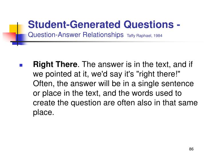 Student-Generated Questions -
