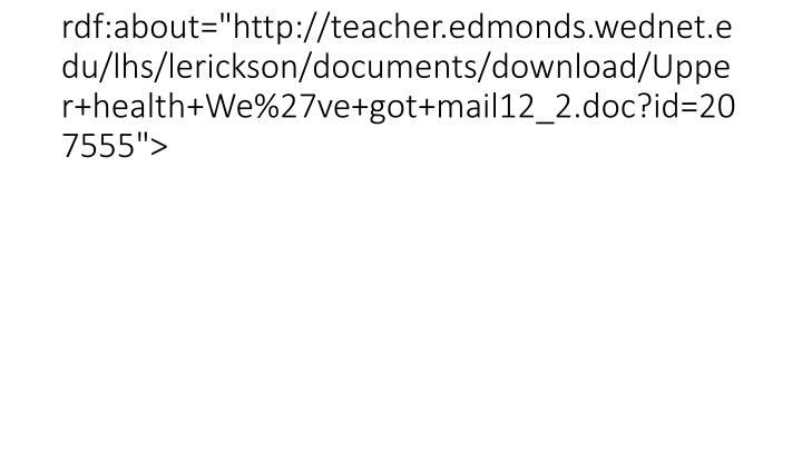 "<item rdf:about=""http://teacher.edmonds.wednet.edu/lhs/lerickson/documents/download/Upper+health+We%27ve+got+mail12_2.doc?id=207555"">"