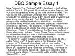 dbq sample essay 1