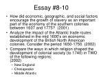 essay 8 10