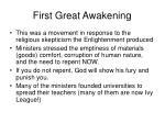 first great awakening