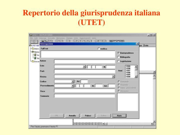 Repertorio della giurisprudenza italiana (UTET)