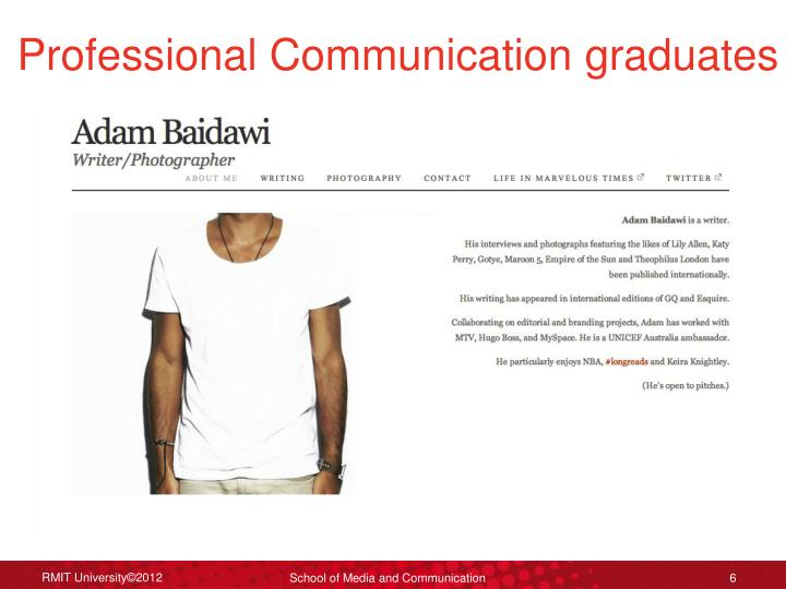 Professional Communication graduates