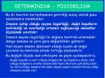 determinism possibilism3