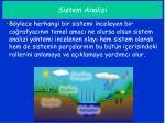 sistem analizi1
