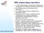 doi digital object identifier