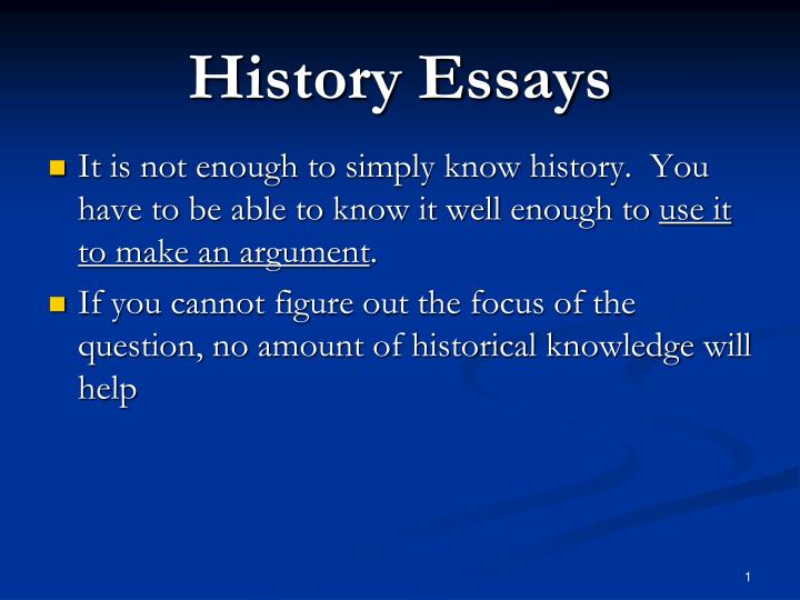 history essays General various views on subjects regarding american history contributed by various authors all views presented are the responsibility of the authors.