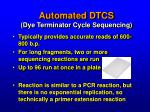 automated dtcs dye terminator cycle sequencing