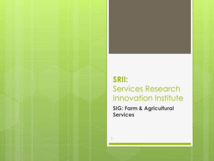 Srii services research innovation institute