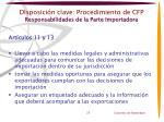 disposici n clave procedimiento de cfp responsabilidades de la parte importadora1