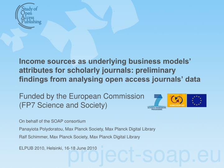 funded by the european commission fp7 science and society n.