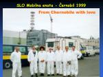 slo mobilna enota ernobil 1999