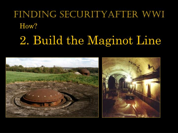 Finding securityAfter WWI