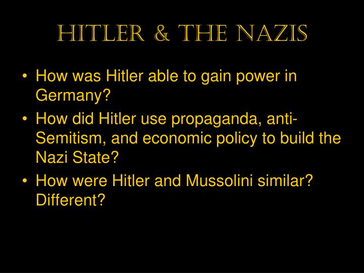 Hitler & the nazis