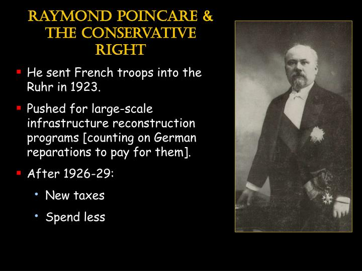 Raymond poincare & the conservative right