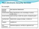 non electronic security services