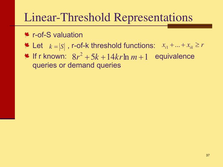 Linear-Threshold Representations