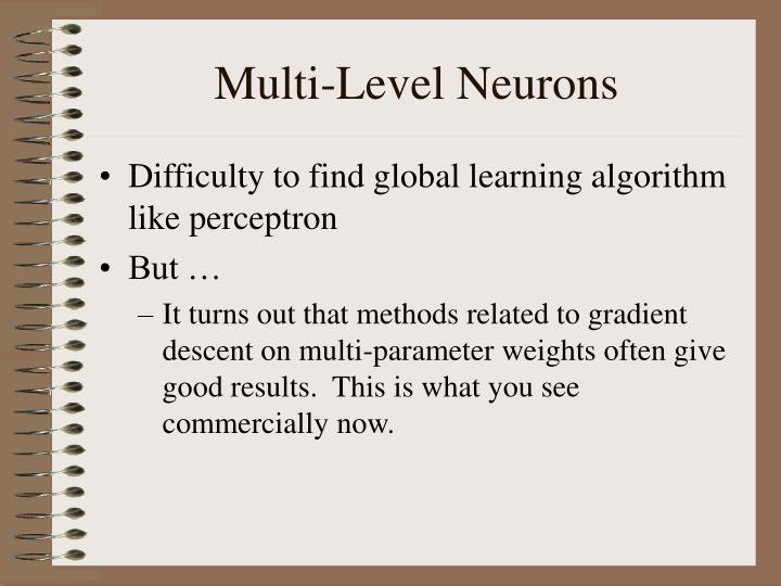 Multi-Level Neurons