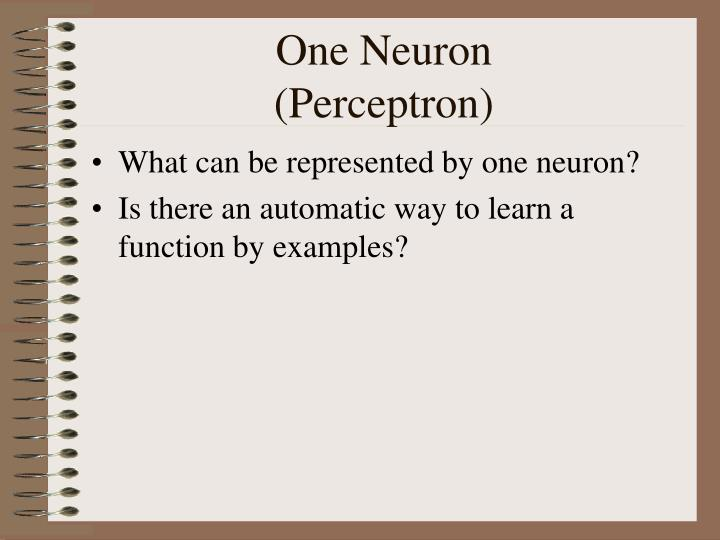 One Neuron