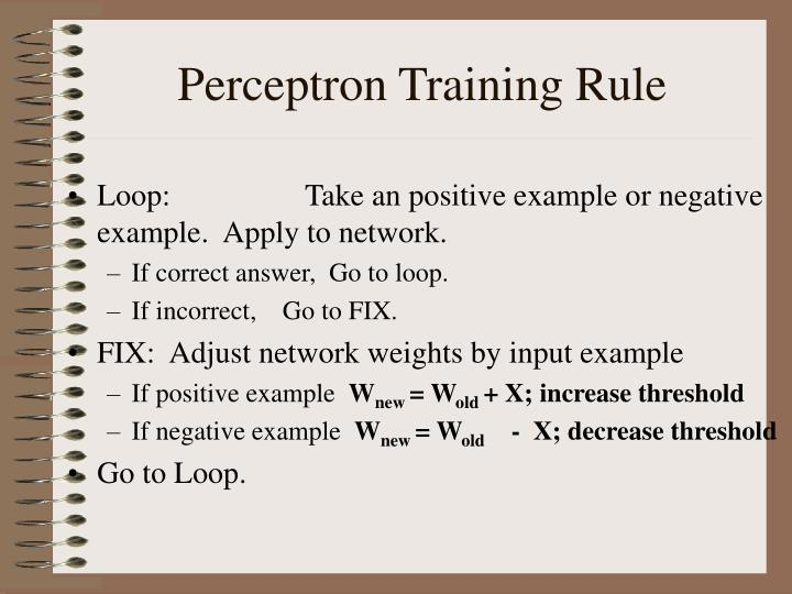 Perceptron Training Rule