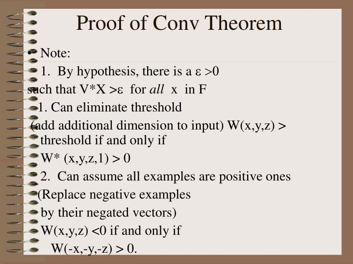 Proof of Conv Theorem
