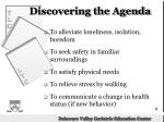 discovering the agenda