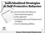 individualized strategies in self protective behavior