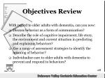 objectives review