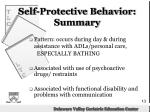 self protective behavior summary