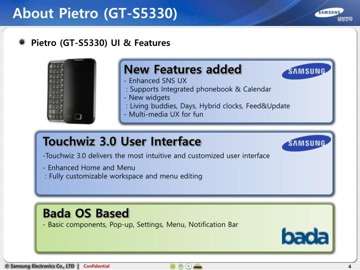 About Pietro (GT-S5330)