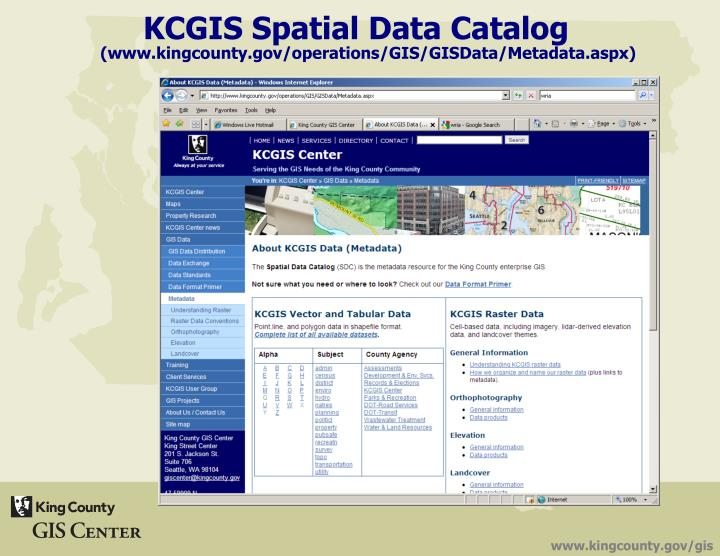 KCGIS Spatial Data Catalog
