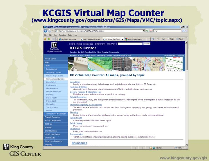 KCGIS Virtual Map Counter