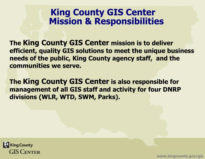 King County GIS Center