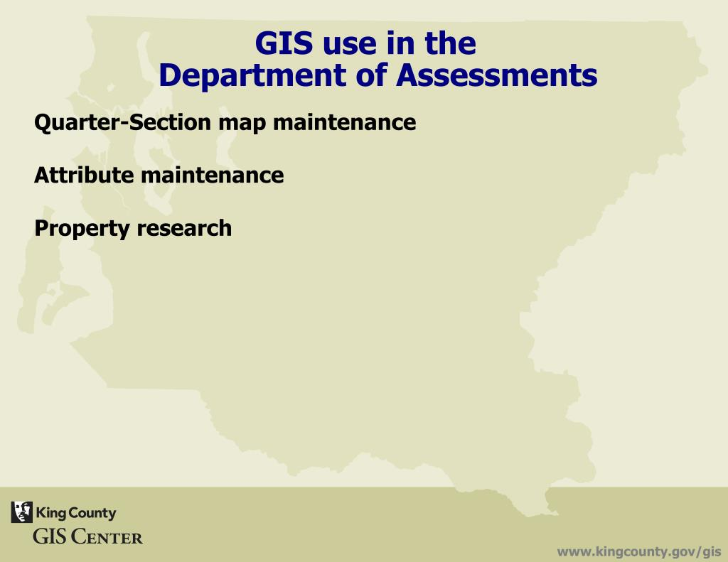 PPT - GIS in King County Government 'UW Civil Engineering