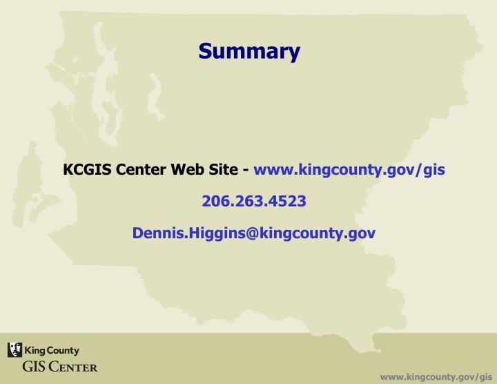 KCGIS Center Web Site -